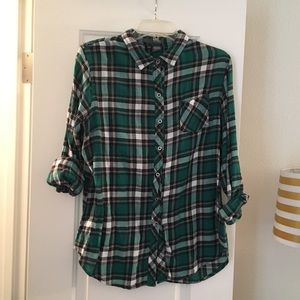 Green Plaid Shirt Purchased at Nordstrom